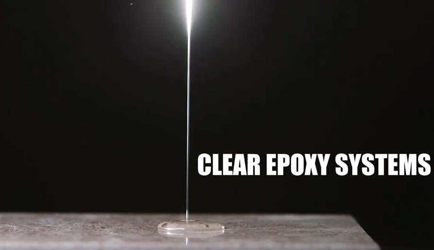 Epoxy che cade a controluce